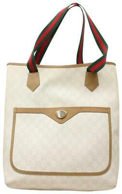 7b1196f89a9951 GUCCI 309613 FLORAL Nice White Coated Canvas Tote - $950.00 | PicClick