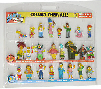 THE SIMPSONS Greetings From Springfield Ltd Edition 25 Piece Figurine Set