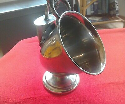 Lovely unusually shaped silver plate coal scuttle sugar bowl with scoop