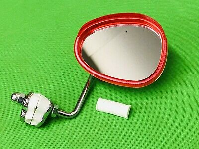 Vespa Bumm Right Hand Side Legshield Red Mirror Red With White Back