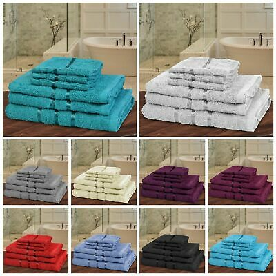 10Pc Towels Bathroom Gift Set Sheet Jumbo Bale Pure Cotton Luxury Spa Home Towel