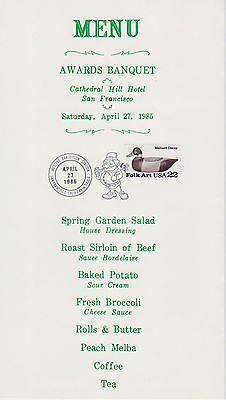 IRELAND/USA WESTPEX '85 Awards Banquet Souvenir Program (EPA 35th Anniversary)