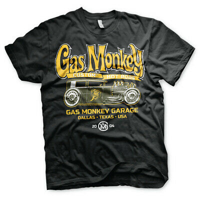Gas Monkey Garage Gmg Verde Hot Rod T Shirt da Uomo Custom Auto