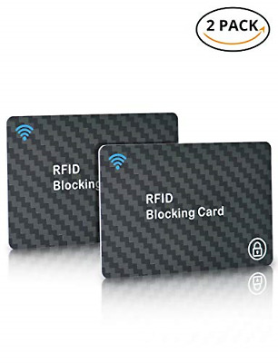 2Pack RFID Blocking Cards, TopElek NFC Contactless Cards Protection, Advanced &