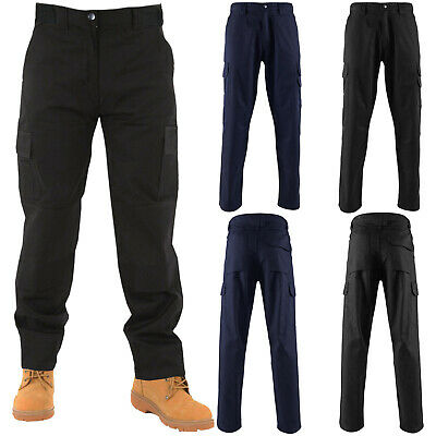 Mens Cargo Combat Work Trousers Knee Pad Pockets Workwear Bottoms Casual Pants