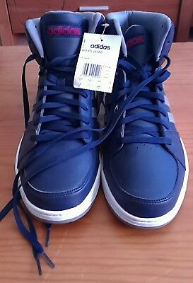 online store 0fa50 3c46a ADIDAS NEO HOOPS VS MID azul