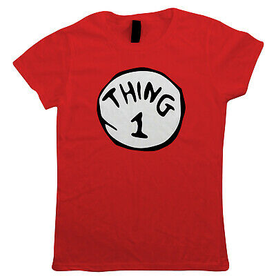 Thing 1 - 9, Womens T Shirt - Funny World Book Day Costume Fancy Dress Holiday