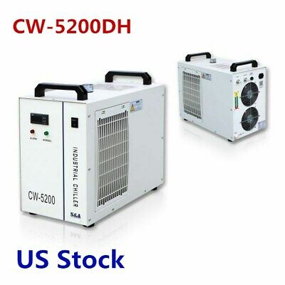 US-CW-5200DH Industrial Water Chiller for 130-150W CO2 Glass Laser Tube Cooling
