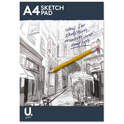 A4 Sketch Pad Book 100 Pages White Paper Artist Sketching Drawing Doodling Art