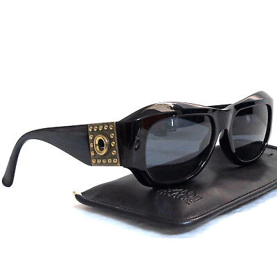 91570f4887a Authentic Gianni Versace Black Sunglasses Mod 395 Col 852 BK Made Italy in  Case