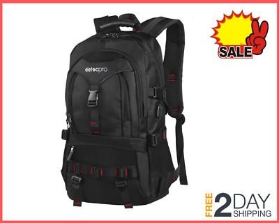 Travel Laptop Backpack Waterproof with USB Charging Port, Multi-Function Pocket