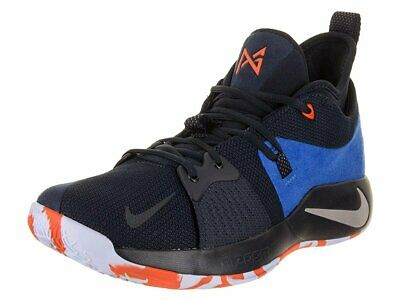 Nike Mens Paul George PG 2 Basketball Shoes Dark Obsidian/Kinetic Green/Navy...