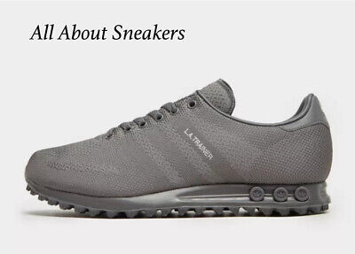 sports shoes 93de5 2cf5c Adidas LA Trainer Woven Grey Men s Trainers All Size Limited Stock KDI LTFZ