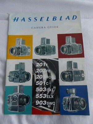 Hasselblad Camera Guide. c1994. 7 camera models. Sales Booklet