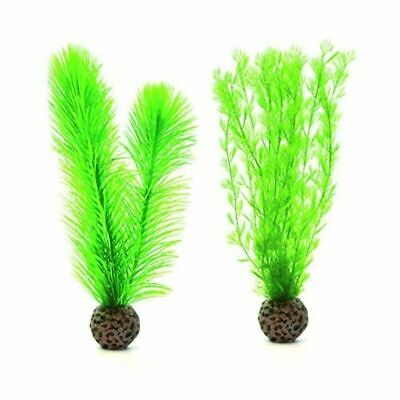 Oase biOrb Halo biUbe Life Small Green Feather Fern Topiary Plant Decor 2 Pack