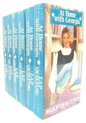 At Home With Georgia - Lap Quilting - #1 - 6 - VHS Lot - New & Sealed