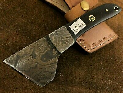 Handmade Damascus Steel Saddlers-Leather Cutter-Workers Tool-LC41