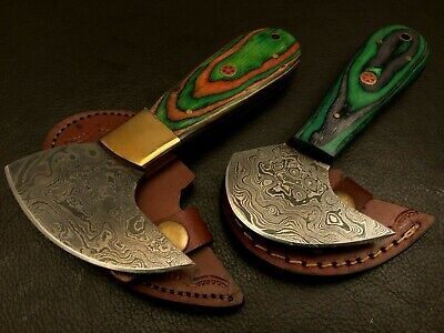 Handmade Damascus Steel Leather Cutter-Saddler-Craft Tool-QD18