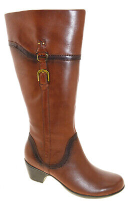 632ac991670c CLARKS BENDABLES INGALLS Vicky 2 Leather Boots wide calf brown 6m ...
