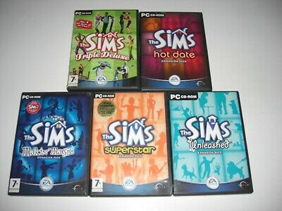 THE SIMS Triple Deluxe + Expansion Packs Pc Simms 1 Base game + All Expansions