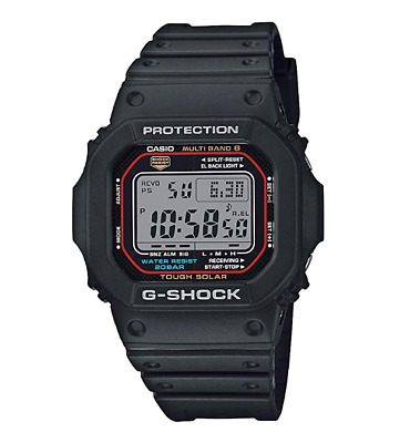 Casio G-Shock Men's Tough Solar Atomic Black Strap 42mm GW-M5610GD-1A