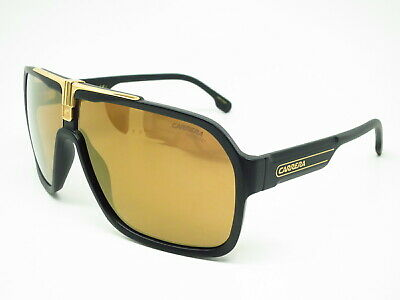 d7399c8dc New Authentic Carrera 1014/S I46K1 Black Gold w/Brown Gold Mirror Sunglasses