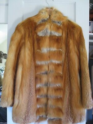 Lovely Red Fox Fur Coat, size small, excellent condition