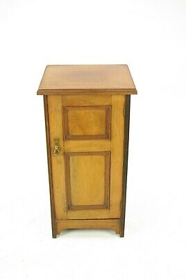 Antique Walnut Night Stand, Victorian Bedside Lamp Table, Scotland 1880s, B1399
