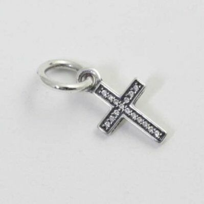 Authentic Pandora Silver S925 ALE Symbol Of Faith CROSS CZ Charm 791310CZ