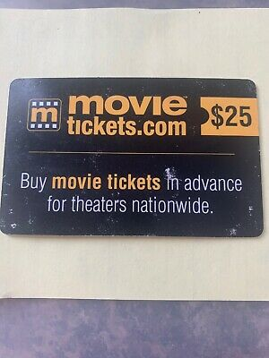 $25 movie tickets.com gift card