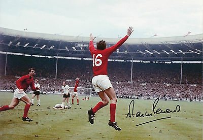 MARTIN PETERS Signed 12x8 Photo Proof 1966 WORLD CUP Goal Scorer COA