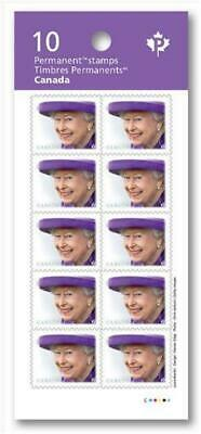 "2019 Canada - QUEEN ELIZABETH II Booklet of 10 MNH ""P"" Stamps; FREE SHIPPING"