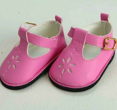 """18"""" American Girl Doll Shoes Mary Jane Hot Pink Straps Accessories Clothes"""