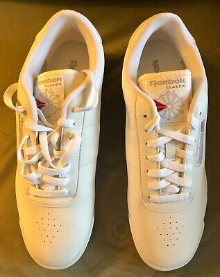 Reebok Classic Womens Athletic Princess White Sneakers Size 10 W-D New in  Box ce67c98f8