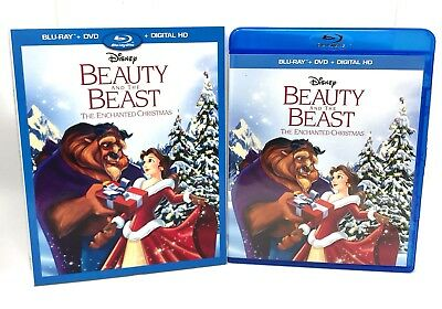 Beauty and the Beast: The Enchanted Christmas Slipcover Disney Blu-Ray & DVD