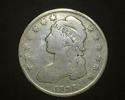 1836 CAPPED BUST HALF-DOLLAR O#104 Cleaned VERY GOOD ~396510-LB914CH