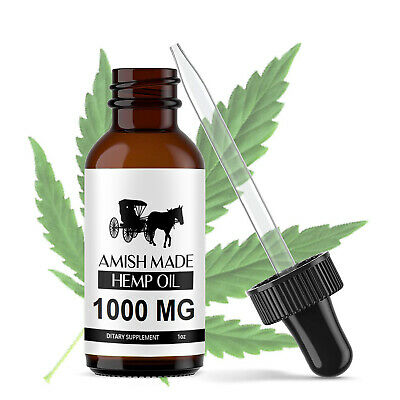 Organic Hemp Oil Drops 1000 mg Pain Relief Reduce Stress Joint Support Sleep Aid