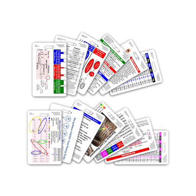 Complete EMS Vertical Badge Card Set - 13 Cards