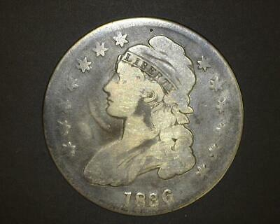 1836 CAPPED BUST HALF-DOLLAR O#115 Cleaned VERY GOOD ~410537-LK1015CO