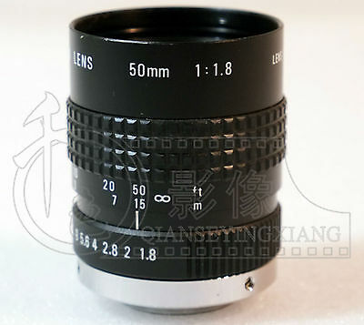 Used Good COSMICAR50/1.8TV 50mm 1:1.8 Mount Television Lens CCTV #E-R1  GY