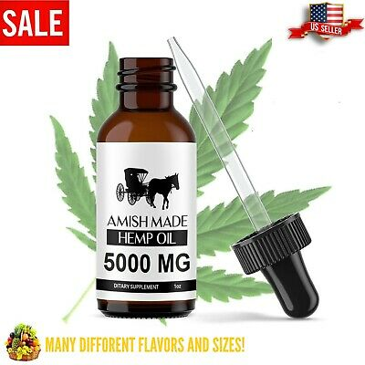 Organic Hemp Seed Oil Drops Pain Relief Reduce Stress Joint Support Sleep Aid