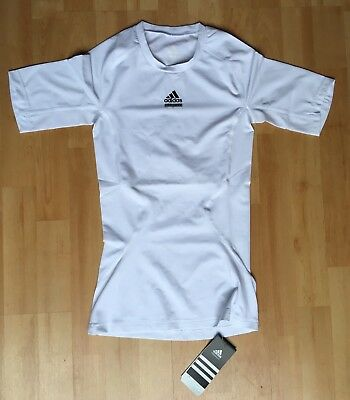 5693e131a adidas Techfit Fitted Compression Base Layer Gym Training T-shirt White Size  XS
