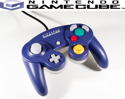 original nintendo gamecube controller indigo/clear. tight sticks oem official