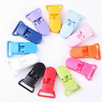 10Pcs Safe Baby Carriage Plastic Pacifier Clip Holder DIY Teething Chain Making