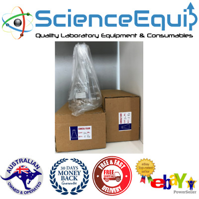 Conical Flask  Borosilicate Glass 3.3- Flasks 500ml X 4Pcs @ Wholesale Price