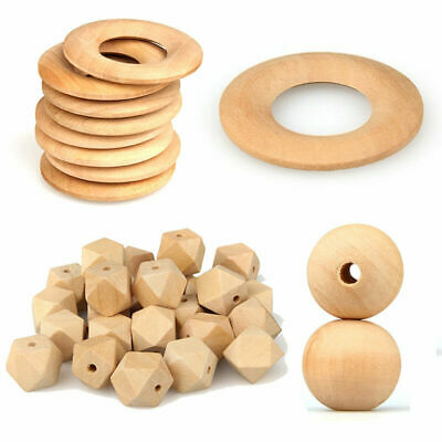 Natural Beech Wood Round DIY Baby Nursing Teething Nurse Necklace Jewelry Making
