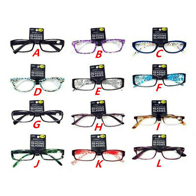 +1.0 Magnification Reading Glasses Fashion Adults Women Men Ladies +1.0 Strength