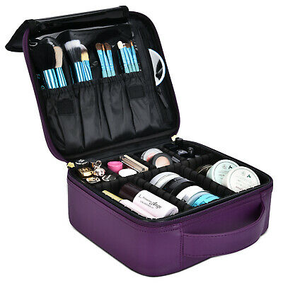 a20c1d6dc86f Portable Makeup Train Bag Makeup Cosmetic Case Organizer Storage Bag for  Travel