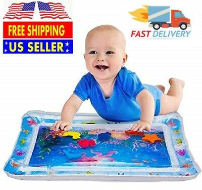 Inflatable Best Tummy Time Water Play Mat for Kids Baby 66x50cm 6 Sea Toy in Mat