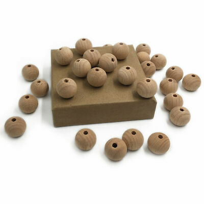 Natural Beech Wooden Teething Loose Beads DIY Baby Chewable Teether Toy Making